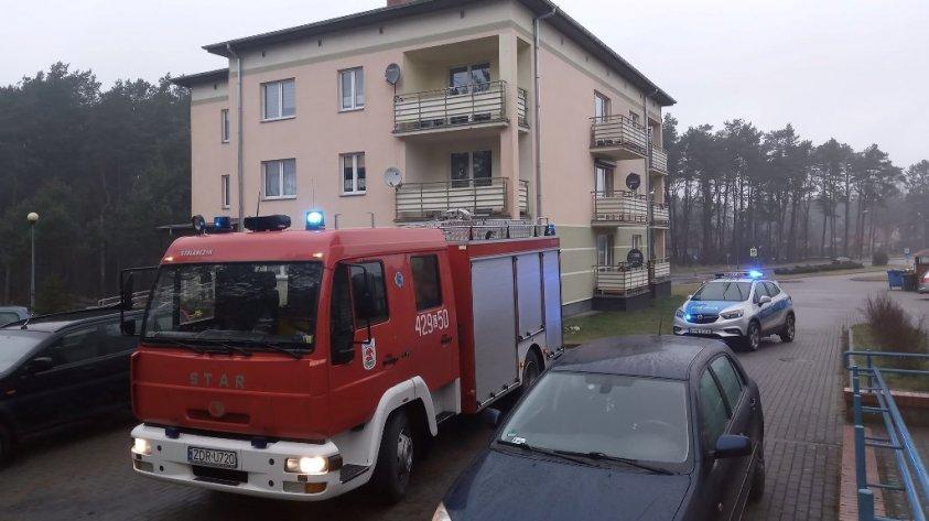 Dwa niebezpieczne zdarzenia w Kaliszu Pomorskim, pożar i ulatnianie się gazu_1
