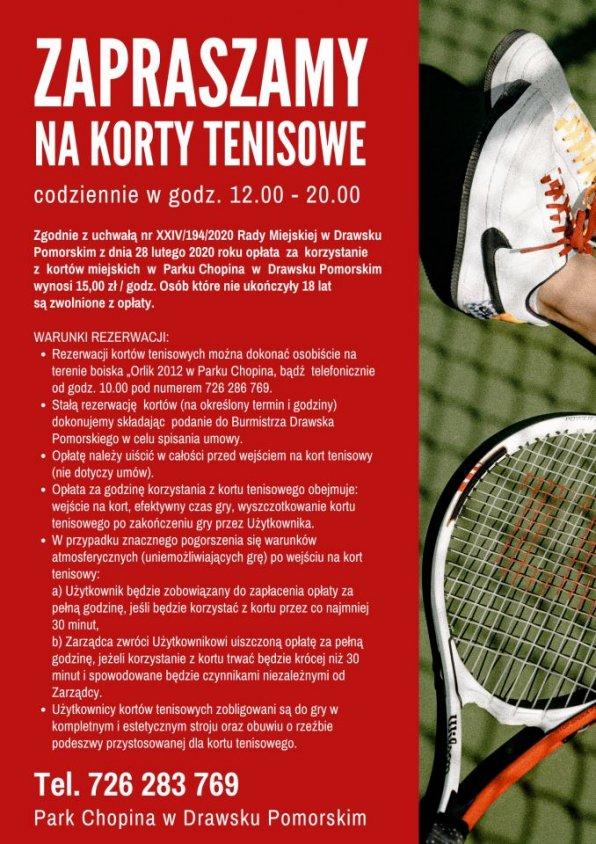 Można już rezerwować korty tenisowe w Drawsku. Pospiesz się