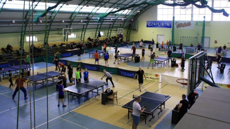 Rekordowa ilość zawodników w turnieju tenisa stołowego