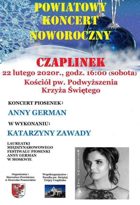 Starostwo zorganizuje koncert noworoczny z piosenkami Anny German. Zaśpiewa je Katarzyna Zawada