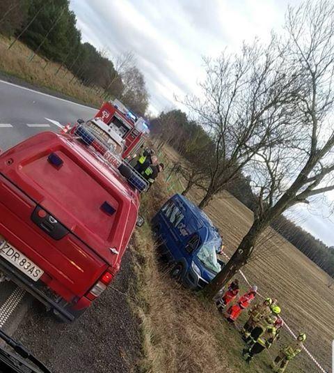 Zginął 44-letni mężczyzna w wypadku na drodze Czaplinek - Broczyno.