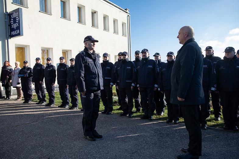 Wielkie otwarcie posterunku Policji w Ostrowicach