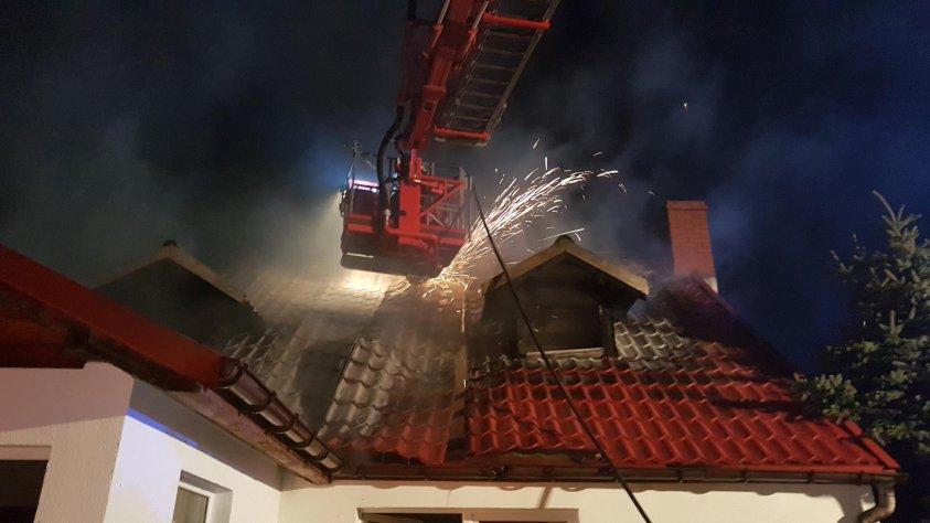 Spalił się dom w Kluczewie