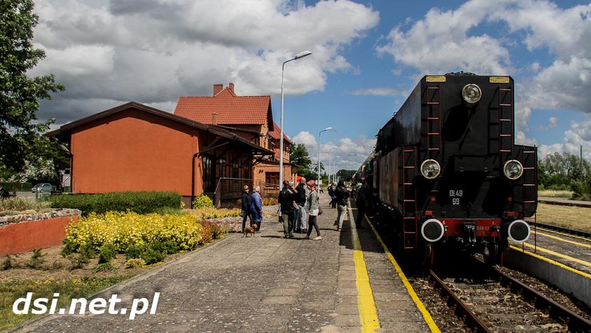 Zabytkowy parowóz w Drawsku i Złocieńcu_19
