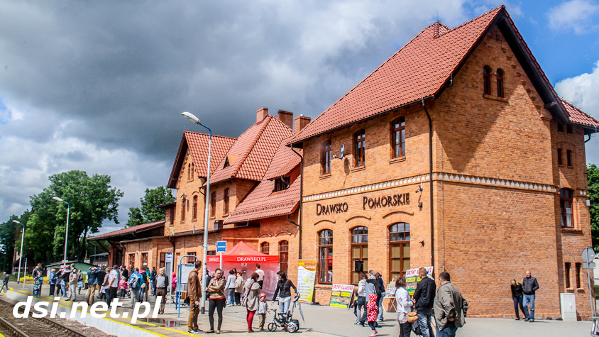 Zabytkowy parowóz w Drawsku i Złocieńcu_2