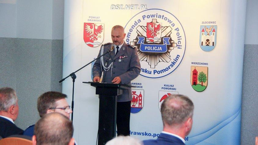 Uroczysta zbiórka policjantów garnizonu drawskiego