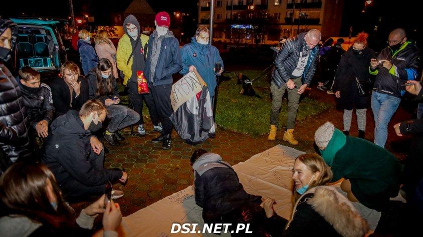 Protest w Drawsku tym razem spokojniejszy