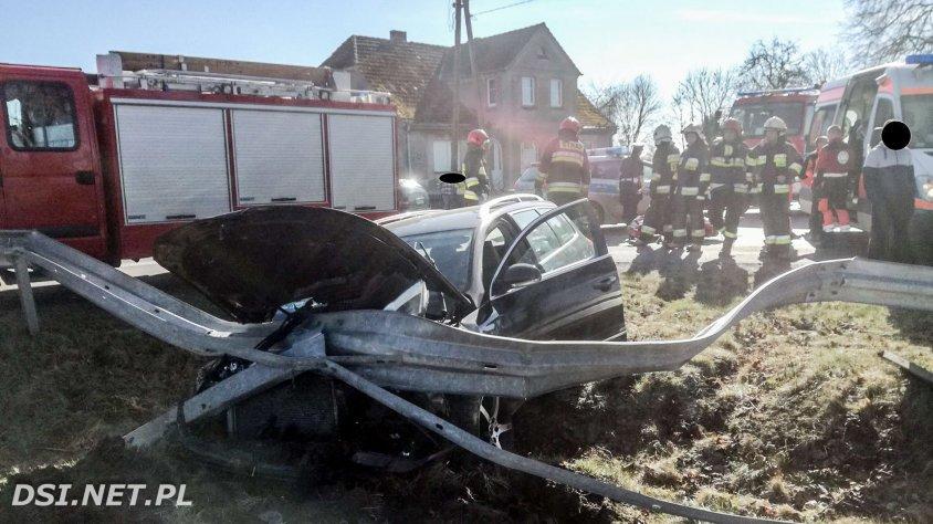 Zgłoszono wypadek - potrącenie motorowerzysty.