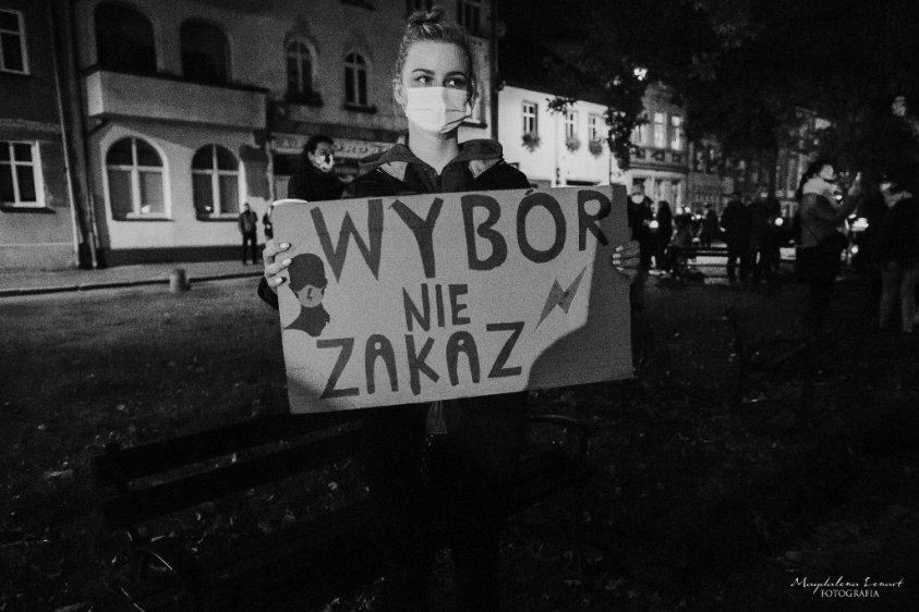 2020-10-25 Protest w Złocieńcu - fot. Magdalena Lenart_1