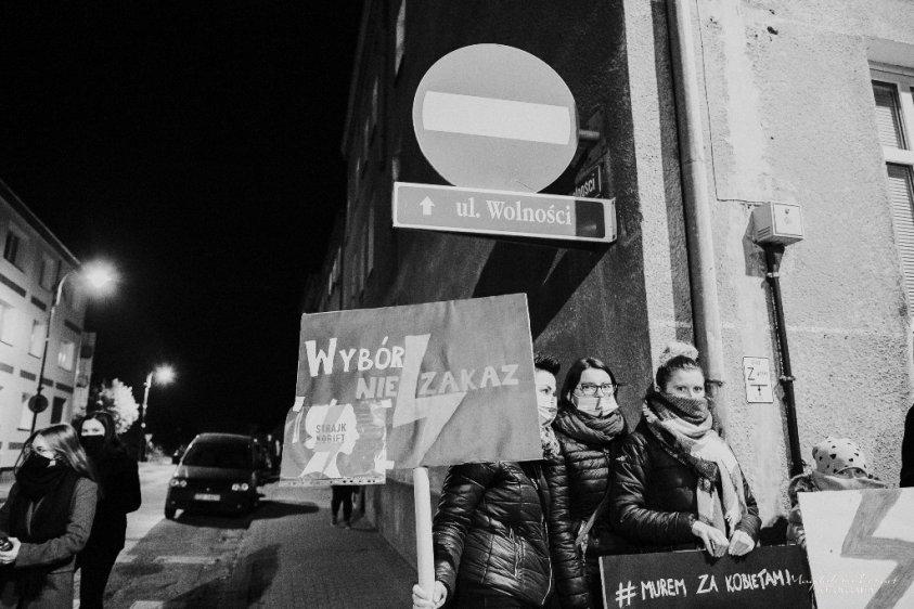 2020-10-25 Protest w Złocieńcu - fot. Magdalena Lenart_3