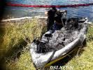 Na jeziorze Drawsko spłonęła łódź motorowa