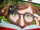 Ten mural już zdobi drawską bibliotekę. Mieszkańcy są zachwyceni
