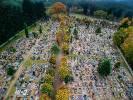 2020-11-01 Cmentarz Kalisz Pomorski Wymowna pustka nad cmentarzem, którą uwiecznił Paweł