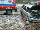 Opel dachował koło Cieszyna Drawskiego