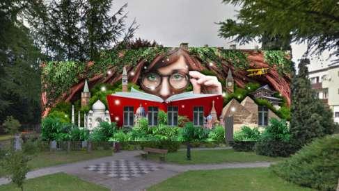 """Antysmogowy mural """"Z książką przez świat"""" powstanie na drawskiej bibliotece. Zobacz projekt."""