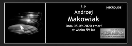 Ś.P. Andrzej Makowiak