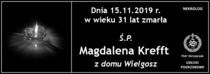 Ś.P. Magdalena Krefft z domu Wielgosz