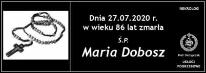 Ś.P. Maria Dobosz