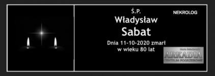 Ś.P. Władysław Sabat