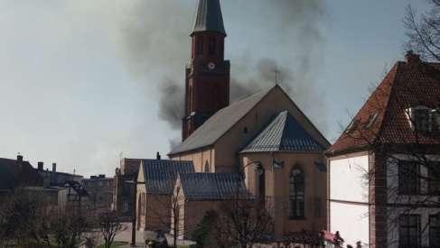 Duży pożar w Złocieńcu. Dym widoczny aż w Drawsku Pomorskim