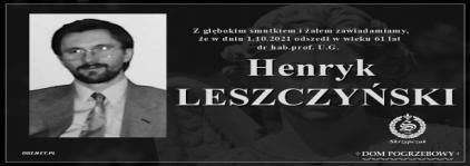 Ś.P. Henryk Leszczyński
