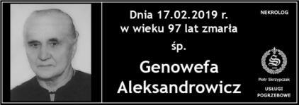 Ś.P. Genowefa Aleksandrowicz
