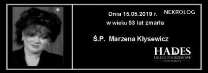 Ś.P. Marzena Kłysewicz