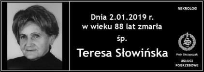 Ś.P. Teresa Słowińska