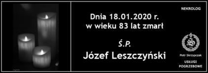 Ś.P. Józef Leszczyński
