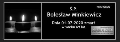 Ś.P. Bolesław Minkiewicz