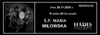 Ś.P. MARIA MIŁOWSKA