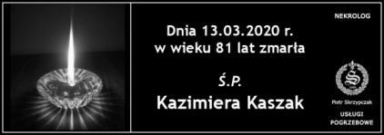 Ś.P. Kazimiera Kaszak