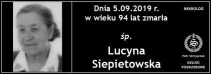 Ś.P. Lucyna Siepietowska