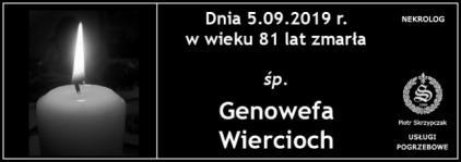 Ś.P. Genowefa Wiercioch