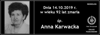 Ś.P. Anna Karwacka