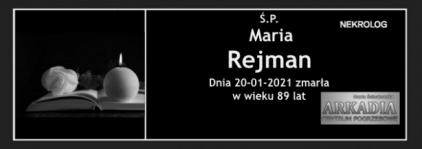 Ś.P. Maria Rejman