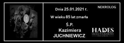 Ś.P. Kazimiera Juchniewicz