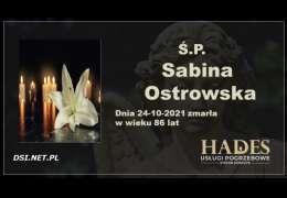 Ś.P. Sabina Ostrowska