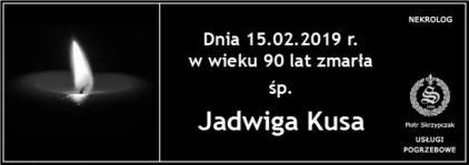 Ś.P. Jadwiga Kusa