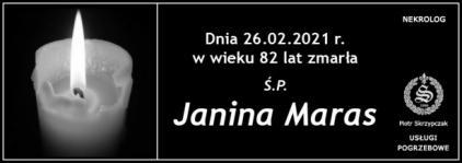 Ś.P. JANINA MARAS