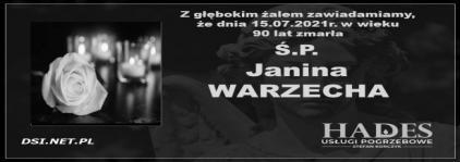 Ś.P. Janina Warzecha