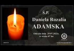 Ś.P. Daniela Rozalia Adamska