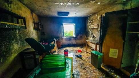 Pożar w ośrodku w Czaplinku postawił na nogi ratowników powiatu drawskiego. Ewakuowano mieszkańców ośrodka