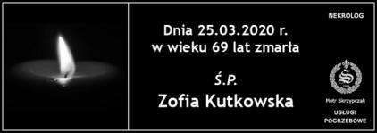 Ś.P. Zofia Kutkowska