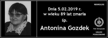 Ś.P. Antonina Gozdek