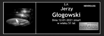 Ś.P. Jerzy Głogowski