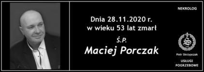 Ś.P. Maciej Porczak