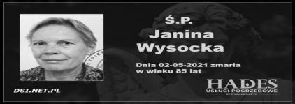 Ś.P. Janina Wysocka