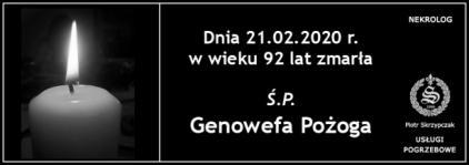 Ś.P. Genowefa Pożoga