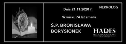 Ś.P. BRONISŁAWA BORYSIONEK